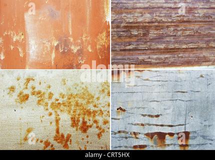 Les surfaces métalliques rouillées grand comme un arrière-plan Banque D'Images