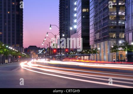 Paysage urbain le long de la 17th Street à Atlanta, Georgia, USA Banque D'Images