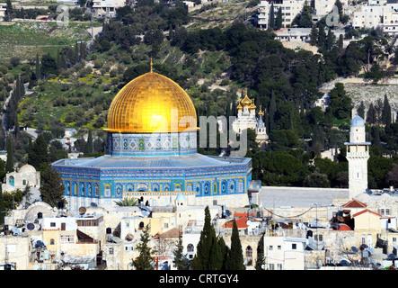 Dôme du Rocher à Jérusalem, Israël Banque D'Images