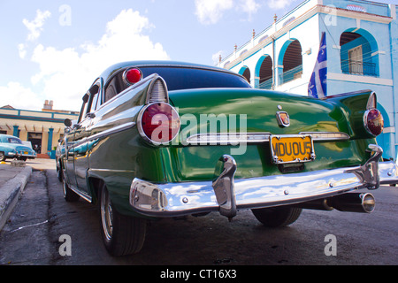 Close up de feux arrière de voiture vintage