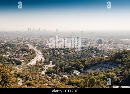 Vue aérienne de Los Angeles Banque D'Images