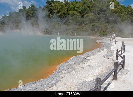 Piscine Champagne au wai-O-Tapu Thermal Wonderland près de Rotorua, Nouvelle-Zélande Banque D'Images