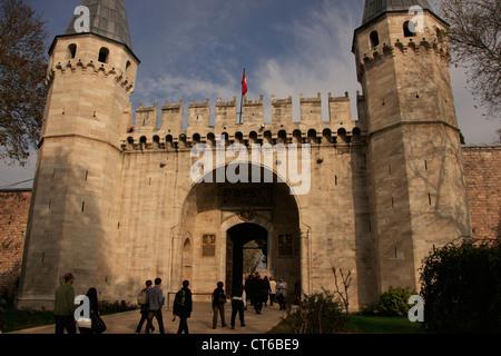 La porte de salutation, le palais de Topkapi, Sultanahmet, Istanbul, Turquie Banque D'Images