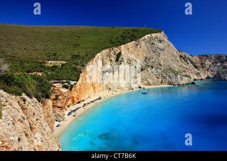 """Célèbre plage de Porto Katsiki, Leucade (ou 'Athènes'), île de la mer Ionienne, l'Eptanisa (même """"îles""""), Grèce"""