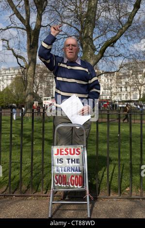 Londres - Les haut-parleurs à Speakers' Corner à Hyde Park