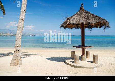 Areia branca beach près de Dili au Timor oriental, le Timor Leste Banque D'Images