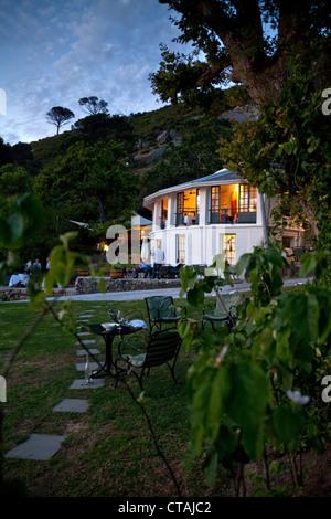 Impression au crépuscule au Restaurant Roundhouse, Camps Bay, Cape Town, Western Cape, Afrique du Sud, RSA, l'Afrique Banque D'Images