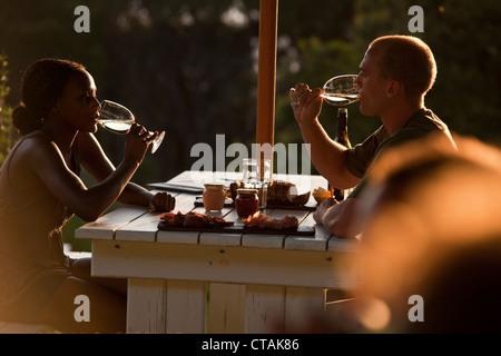 Restaurant Roundhouse, Camps Bay, Cape Town, Western Cape, Afrique du Sud, RSA, l'Afrique Banque D'Images