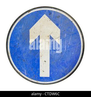 Panneau de signalisation flèche Banque D'Images