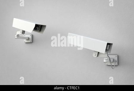 Deux caméras de sécurité a fait l'un l'autre Banque D'Images