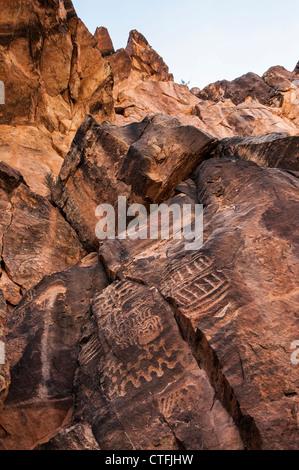 Des pétroglyphes, Parowan Gap près de Cedar City, Utah.