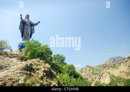 Cristo Rei statue près de Dili au Timor oriental, le Timor Leste