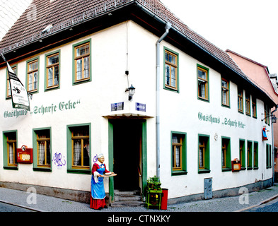 Tavern à Weimar nommée 'Scharfe Ecke' Banque D'Images