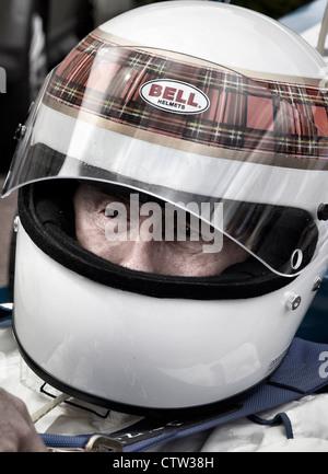 Sir Jackie Stewart dans Matra F1 Royal Automobile Club Woodcote Park Banque D'Images