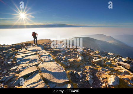 Le Parc National de Babia Gora, Pologne, Europe Banque D'Images