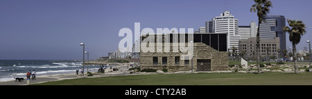 Vue panoramique montrant le musée Etzel à Tel Aviv, Israël Banque D'Images