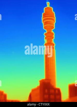 Image thermique de la BT Tower Banque D'Images
