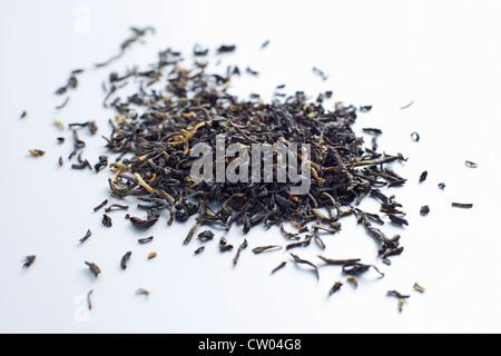Close up of pile de feuilles de thé Banque D'Images