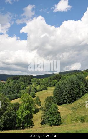 Paysage de montagne Livradois Forez Auvergne Puy de Dome Massif Central France