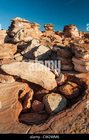 La côte rocheuse à Gantheaume Point, Broome, Australie occidentale Banque D'Images