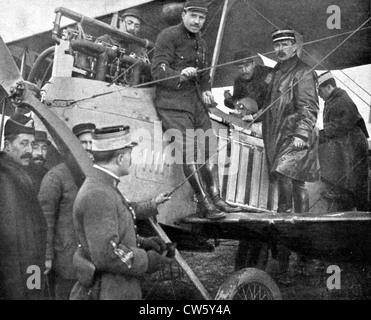 La Première Guerre mondiale La guerre aérienne entre Chaulnes et Amiens Banque D'Images