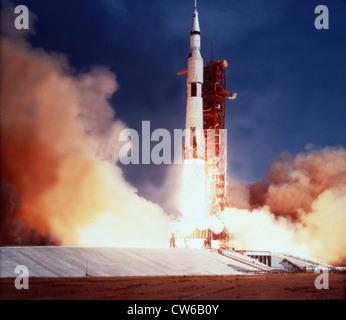 Apollo 11 lancement du Centre spatial Kennedy (Floride) le 16 juillet 1969 Banque D'Images