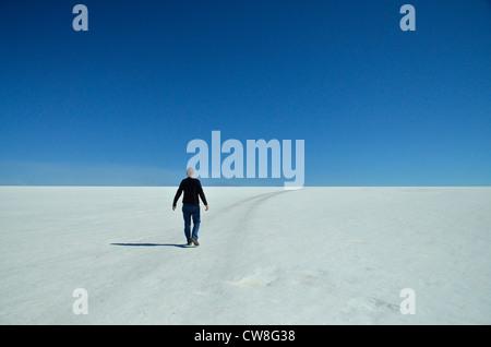 Salaar del Uyuni -- plus de sel sur la terre. Plus de 10 000 km2 de la Bolivie, de l'Amérique du Sud. 50% du lithium Banque D'Images