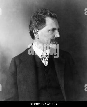 Alphonse Mucha (1860-1939), peintre de l'art nouveau tchèque et concepteur de l'affiche. Banque D'Images