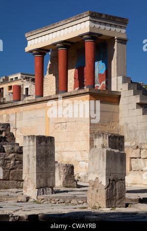 Ruines du palais de Knossos, Crète, Grèce Banque D'Images