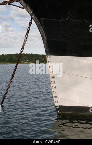 Jauge de profondeur de marquage marquage sur les navires porteurs de la flottabilité de l'eau coque équitation dans le déplacement
