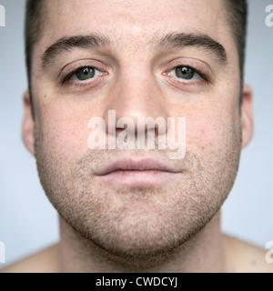L'homme,face,portrait Banque D'Images