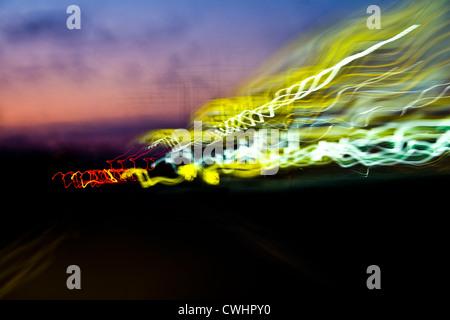 La voie d'éclairage, lampes Banque D'Images