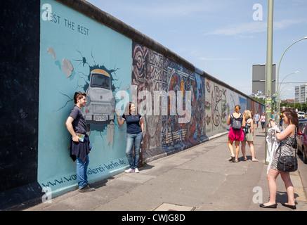 East Side Gallery, Berlin, Allemagne Banque D'Images