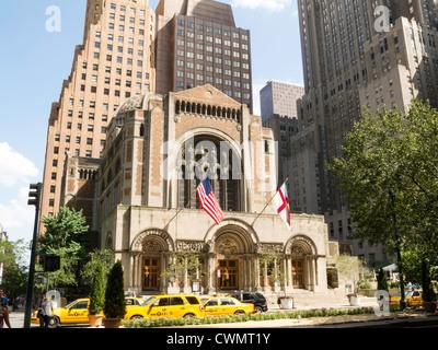 L'église de Saint Bartholomé, Park Avenue, NYC Banque D'Images