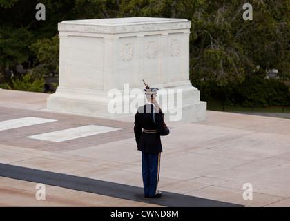 La tombe de l'inconnu, le Cimetière National d'Arlington - Washington, DC USA Banque D'Images