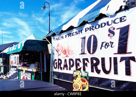 Moss Landing près de Monterey, Californie, USA - pamplemousse et de produits de la ferme à la vente à l'ensemble de la Place du Marché Enchilada