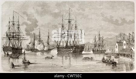 Lord Elliot Arrivée au Pirée harbor Banque D'Images