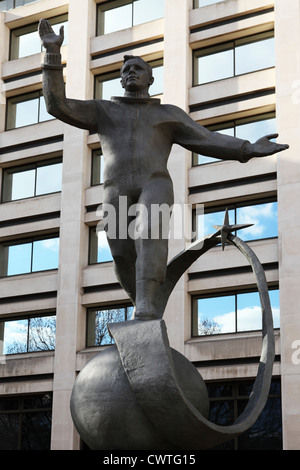 Statue de Youri Gagarine à Londres, en Angleterre.