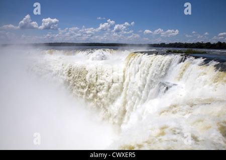 La Gorge du Diable, l'Iguazu, Misiones, Argentine Banque D'Images
