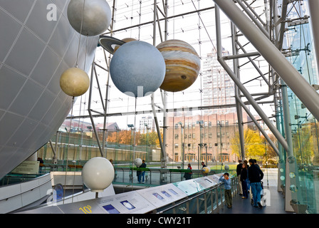 American Museum of Natural History, Rose Center for Earth and Space, New York City. Banque D'Images