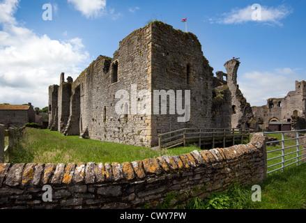 Château de Middleham dans Wensleydale, dans le comté de North Yorkshire, UK_ au nord du Yorkshire, UK Banque D'Images