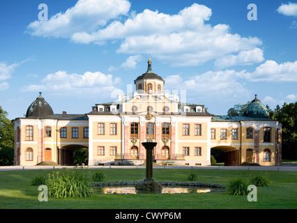 Château Belvedere à Weimar, Thuringe, Allemagne Banque D'Images