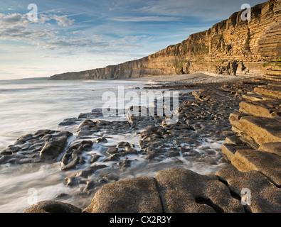 Nash Point sur la côte du Glamorgan, Pays de Galles, Royaume-Uni. L'été (août) 2012. Banque D'Images