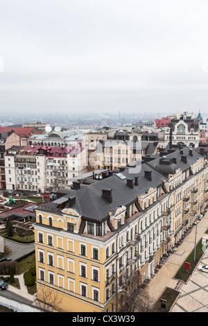 Les bâtiments de grande hauteur moderne avec des condominiums et des bureaux au centre-ville de Kiev, Ukraine, l'Europe Banque D'Images