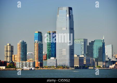 Lieu d'échange à l'horizon de Jersey City, New Jersey, USA. Banque D'Images