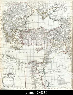 1794 Anville Site de l'Empire romain d'inclues (Grèce) Banque D'Images