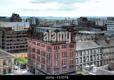 Vue de la ville de Glasgow School of Art, Glasgow, Écosse, Royaume-Uni Banque D'Images