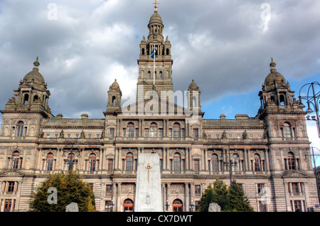 Glasgow City Chambers (1888), George Square, Glasgow, Écosse, Royaume-Uni Banque D'Images