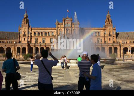 Plaza de España à Séville, Espagne. Banque D'Images
