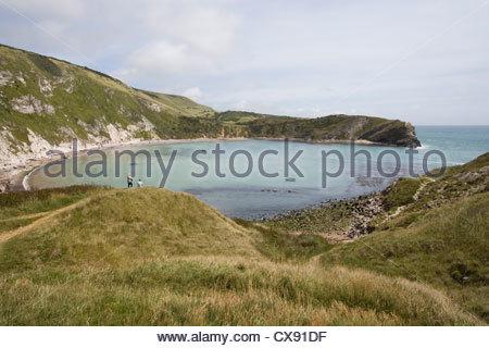 L'anse de lulworth sur la côte jurassique du Dorset Banque D'Images